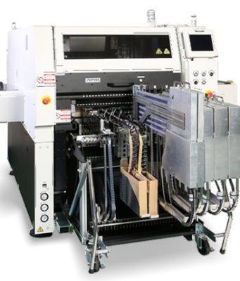 Máquina de inserción de componentes de forma irregular