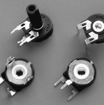 Potenciómetro SMD miniaturizado de 6 mm