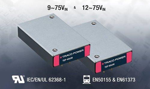 Convertidores CC/CC de 40 y 60 W para el sector ferroviario