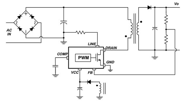 Figura 4. Retroalimentación directa no aislada (detección de línea inhabilitada).