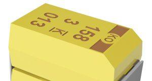 Condensadores de polímero de tántalo de alta tensión