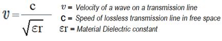 Velocidad de una onda para una línea de transmisión