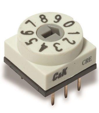 Conmutadores DIP giratorios codificados