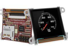 "Microdisplay PMOLED de 1.5"" compatible con el lenguaje 4DGL"