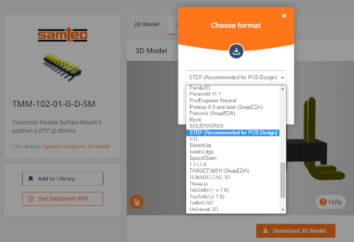 TraceParts y SnapEDA se asocian para mejorar los diseños 3D