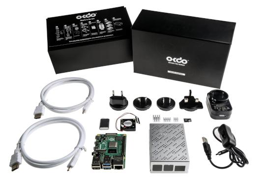 Kit de iniciación Raspberry Pi 4 Model B 8 GB de OKdo