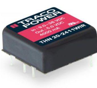 Convertidores CC/CC THN 20WIR de 20 W para el sector ferroviario