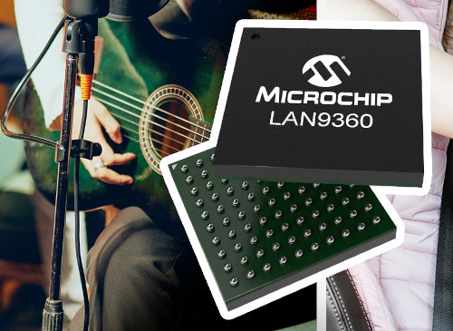 Punto final de audio EVB LAN9360 Ethernet para vehículos