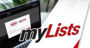 Gestión de listas consolidadas myLists