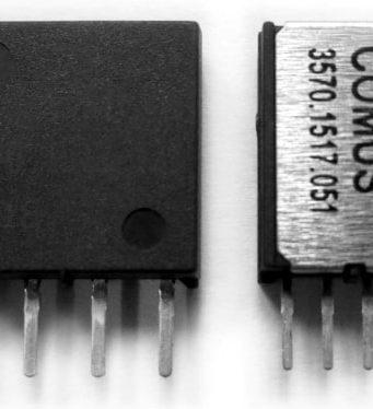 Relés Reed Mini SIP 1517 y 1512 para matrices de conmutación