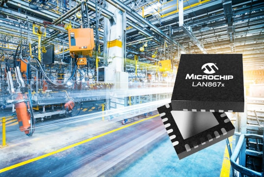 LAN867x, transceptores de capas físicas de Ethernet industrial