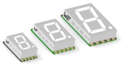 WL-S7DS Displays SMD de 7 segmentos