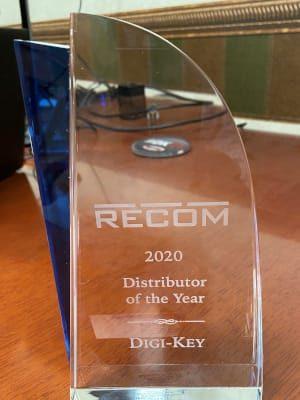 Digi-Key nombrado distribuidor del año por RECOM Power