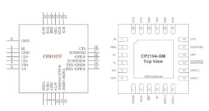 CH9102F Chip de puerto USB a serie de alta velocidad y bajo coste