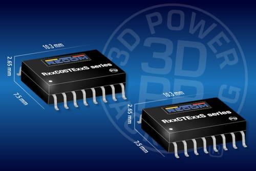 Convertidores DC/DC de 0,5 y 1 W en SOIC-16